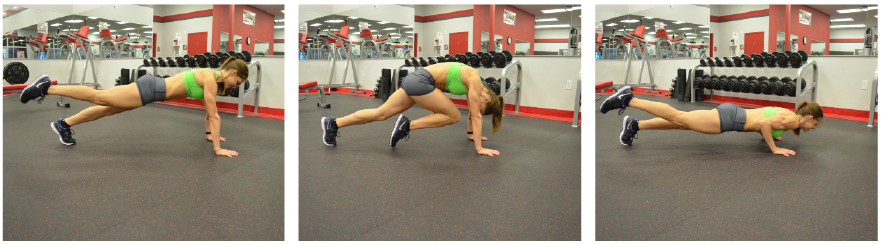 Knee to Elbow Plank with Push up