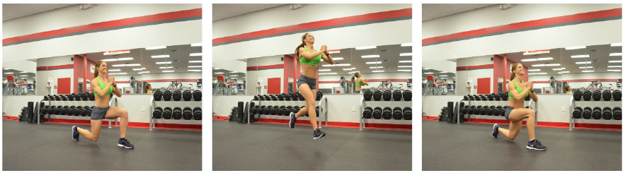 Plyometric Jumping Lunges