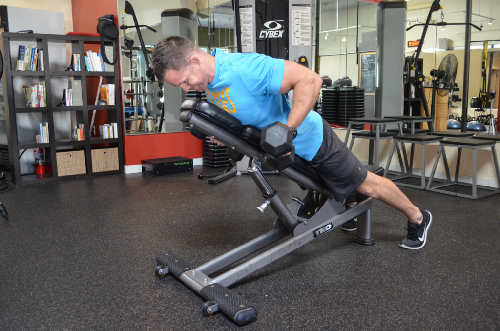 Chris DeRoo bench supported dumbell row 2