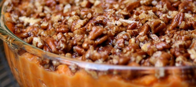 Maple Pecan Sweet Potato Casserole